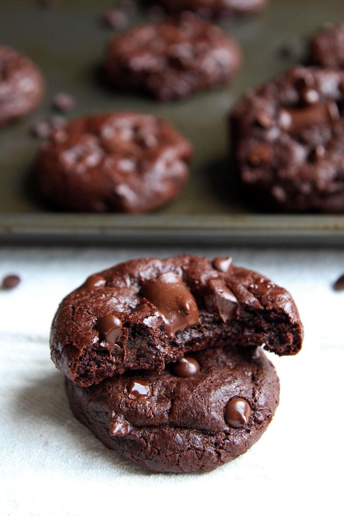 Double Chocolate Chip Spelt Cookies