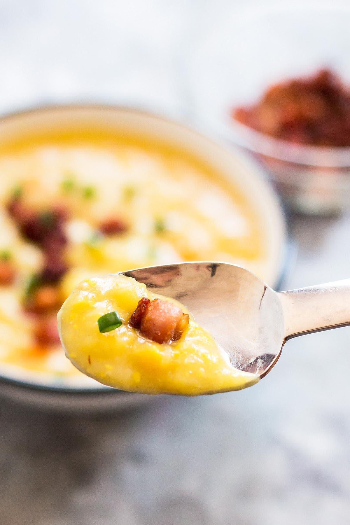 Spoonful of Leek Vegetable Soup