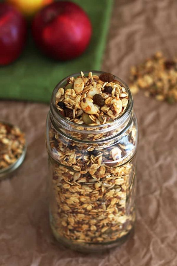 Apple Granola Finished Jar
