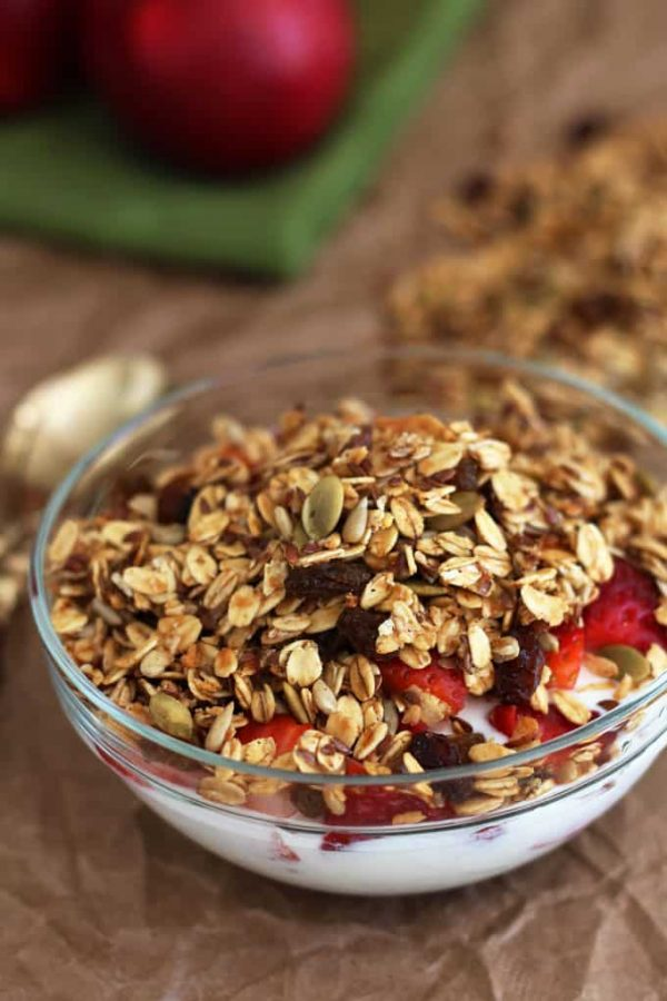 Apple Granola in Bowl