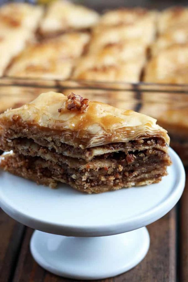 Maple Pecan Baklava Close-Up