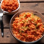 Creamy Crunchy Carrot Salad with Garlic