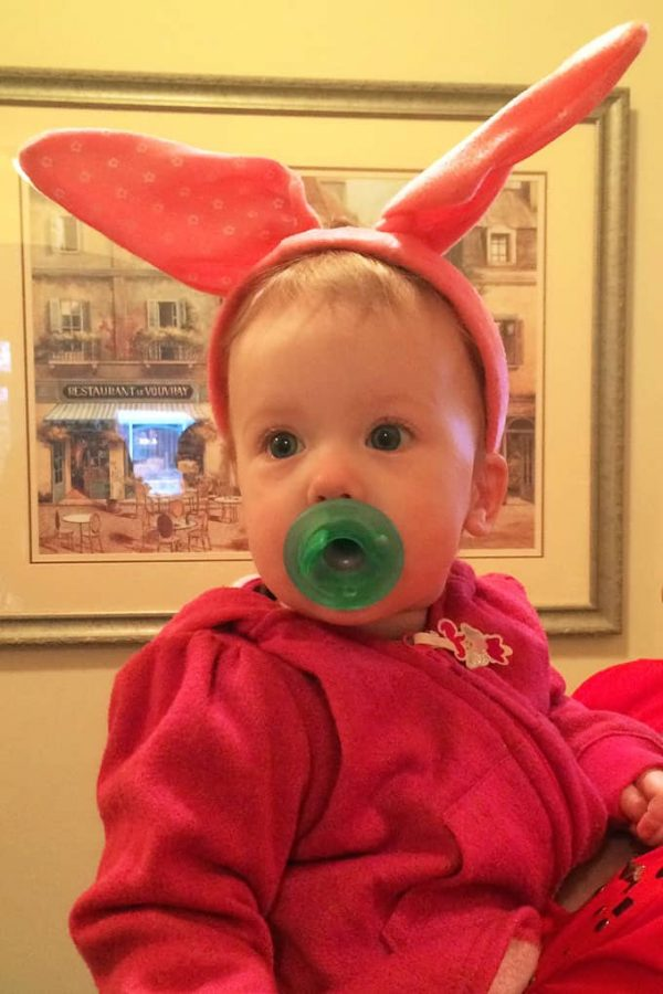 Olivia with Bunny Ears