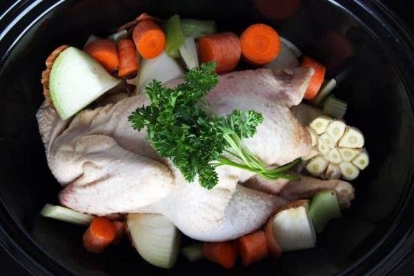 Slow Cooker Chicken Broth Raw