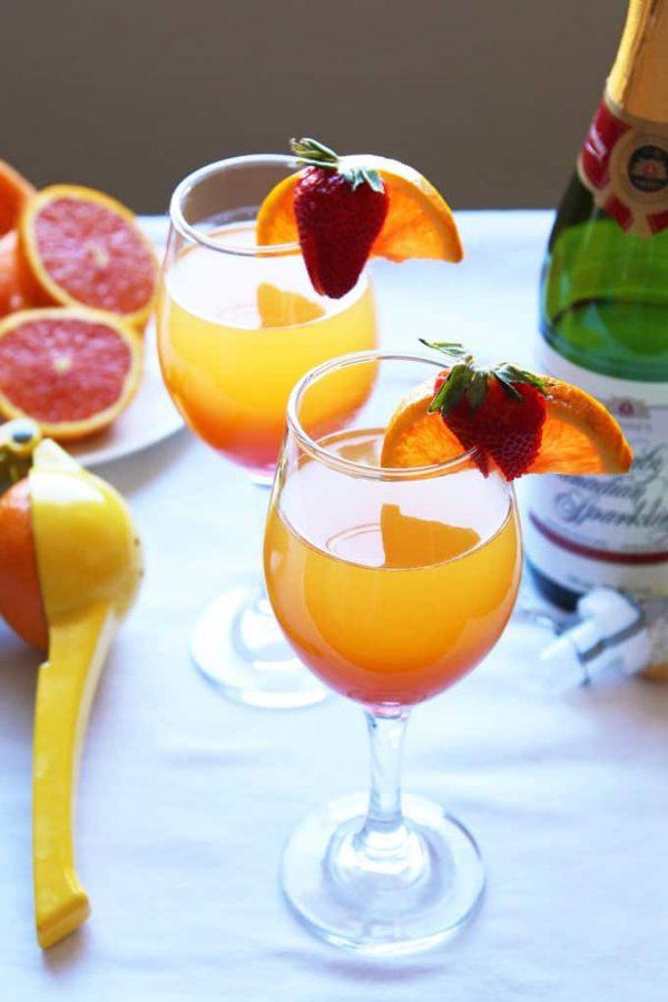 Sunrise Mimosa in Glasses
