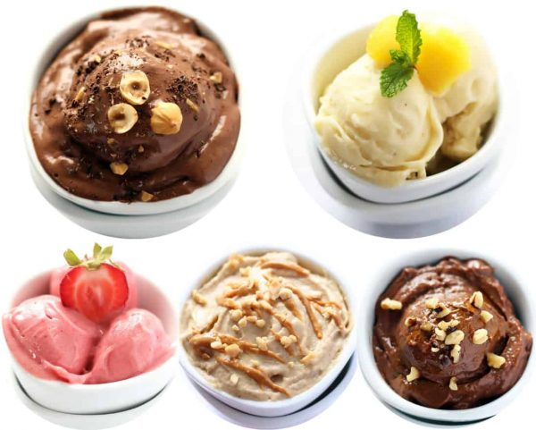 How to make Healthy Nice Cream in 5 different Flavors