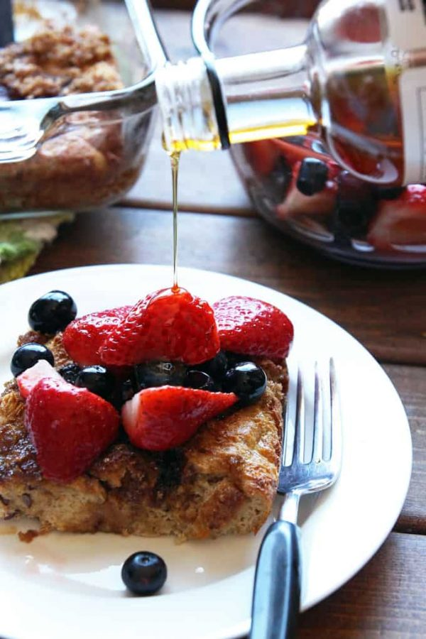 French Toast Casserole with Syrup