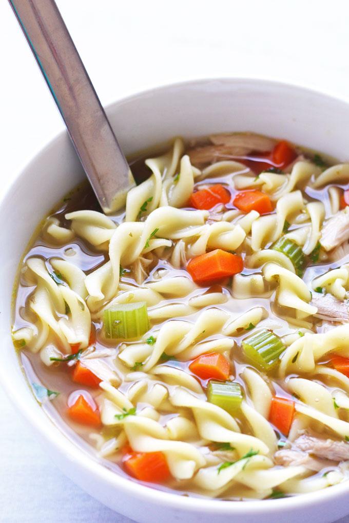 Leftover Chicken Noodle Soup