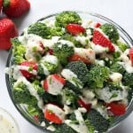 Broccoli Strawberry Salad with Creamy Poppy Seed Dressing