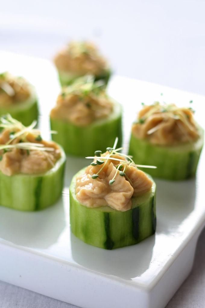Cucumber-Hummus-Bites