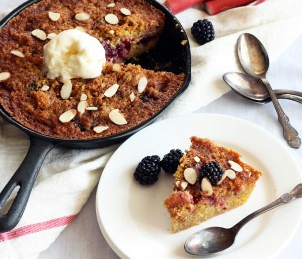 Gluten-Free Blackberry Skillet Cake Slice