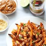 Maple Chipotle Roasted Sweet Potatoes