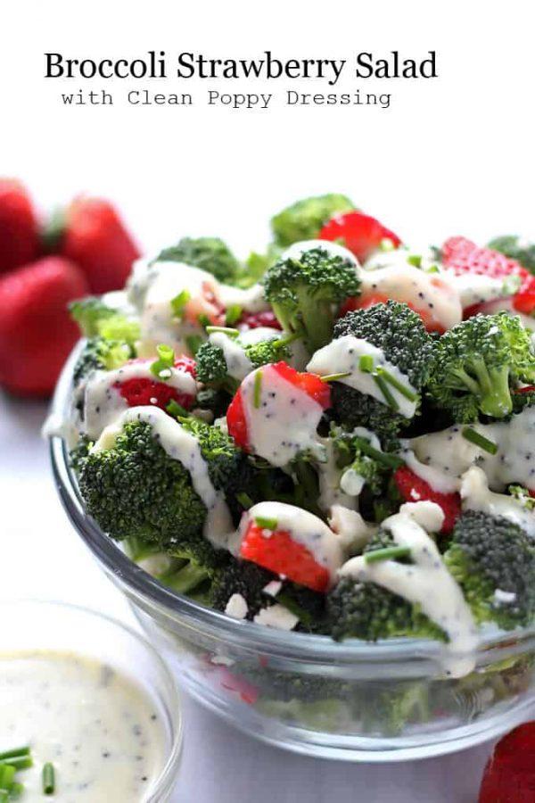 Broccoli Strawberry Salad with Dressing