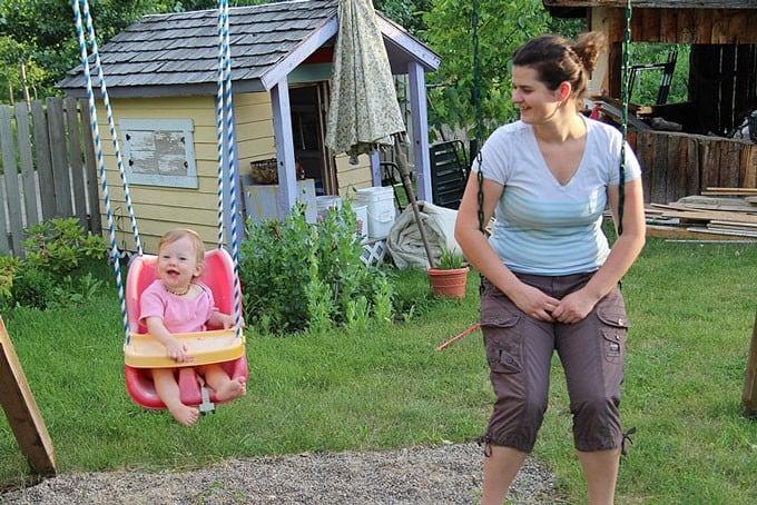 On Swings in Kelowna
