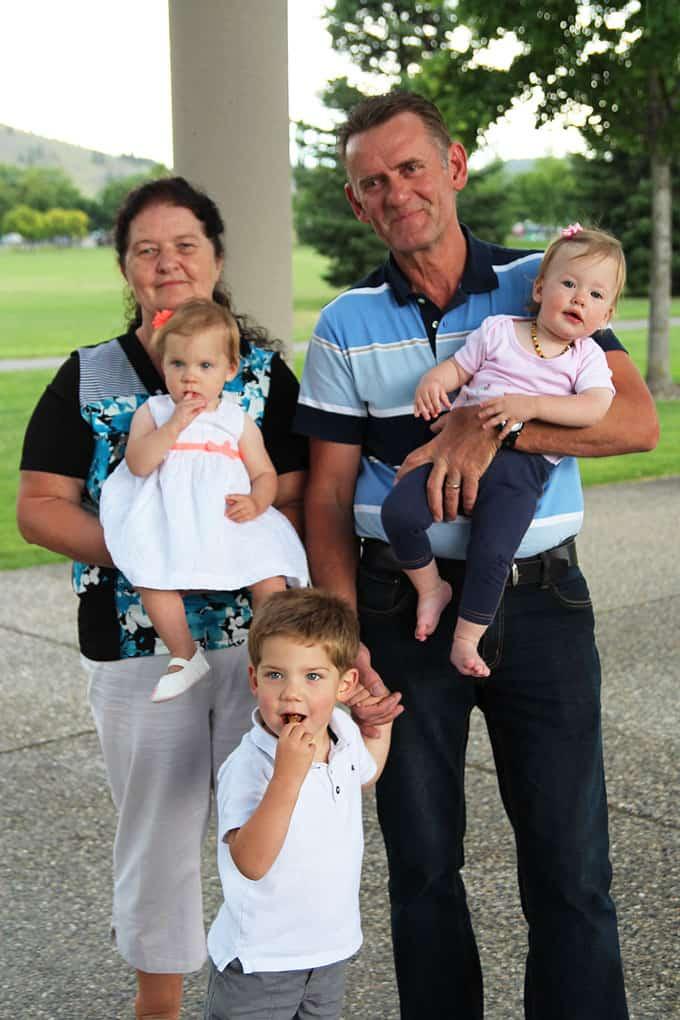 Family Holding Children