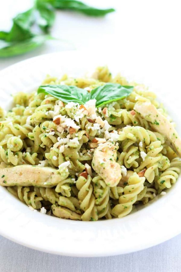 Pesto Chicken Pasta Spinach Fusilli