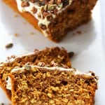 Pumpkin Oat Loaf with Pepita Praline Crunch
