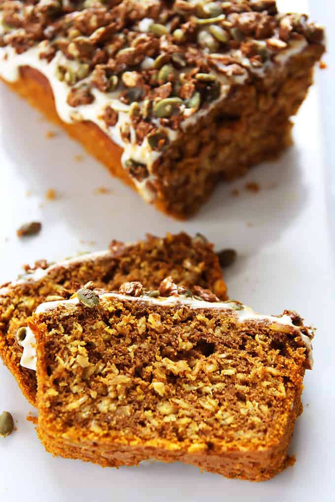 Pumpkin Oat Bread with Pepita Praline Crunch – LeelaLicious