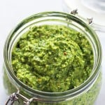Spinach Pesto with Almonds and Feta
