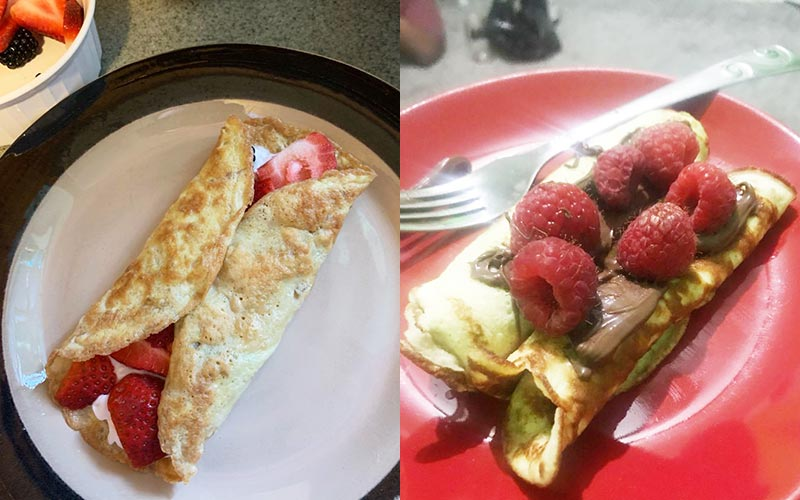 Reader submitted images of crepes