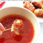 Bacon-Wrapped Mini Hot Dogs with Thai Sweet Chili Sauce
