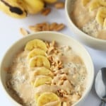 Peanut Butter Banana Overnight Oats