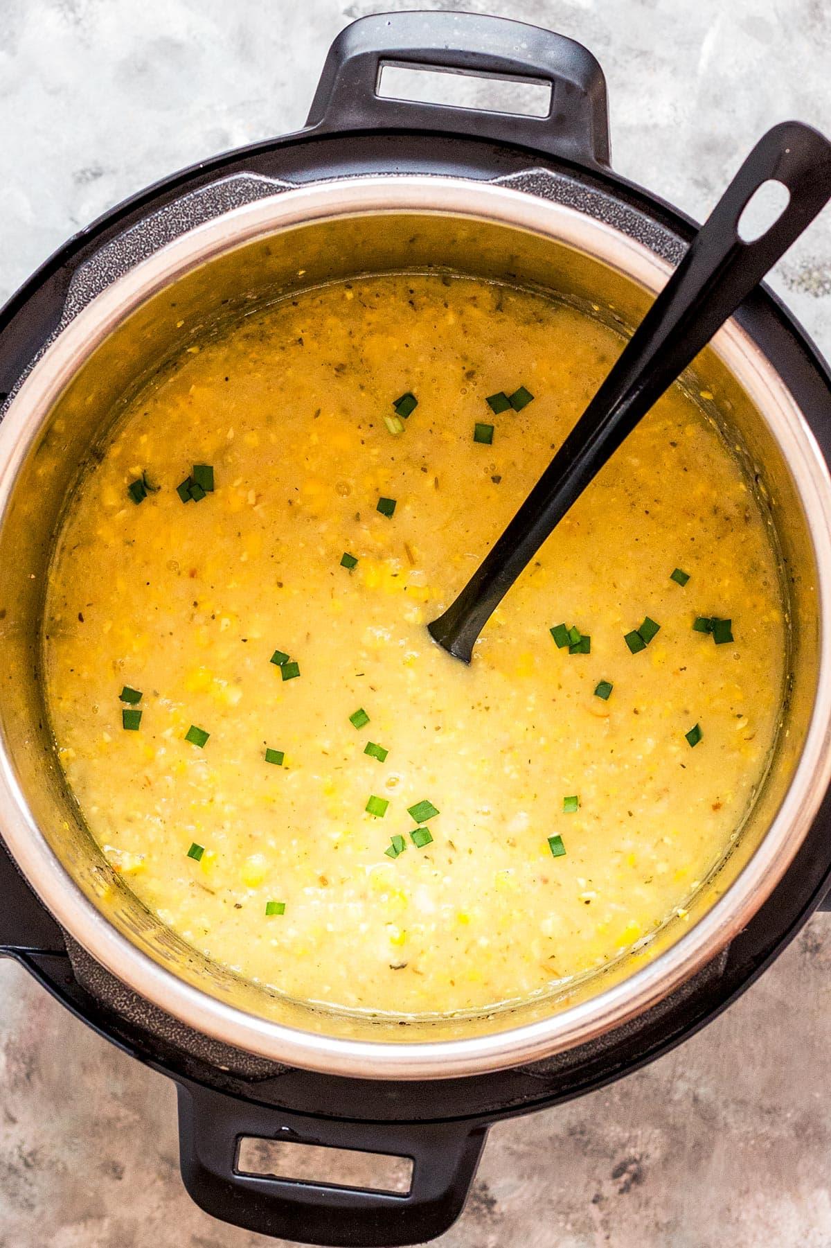 Potato Corn Chowder in Instant Pot