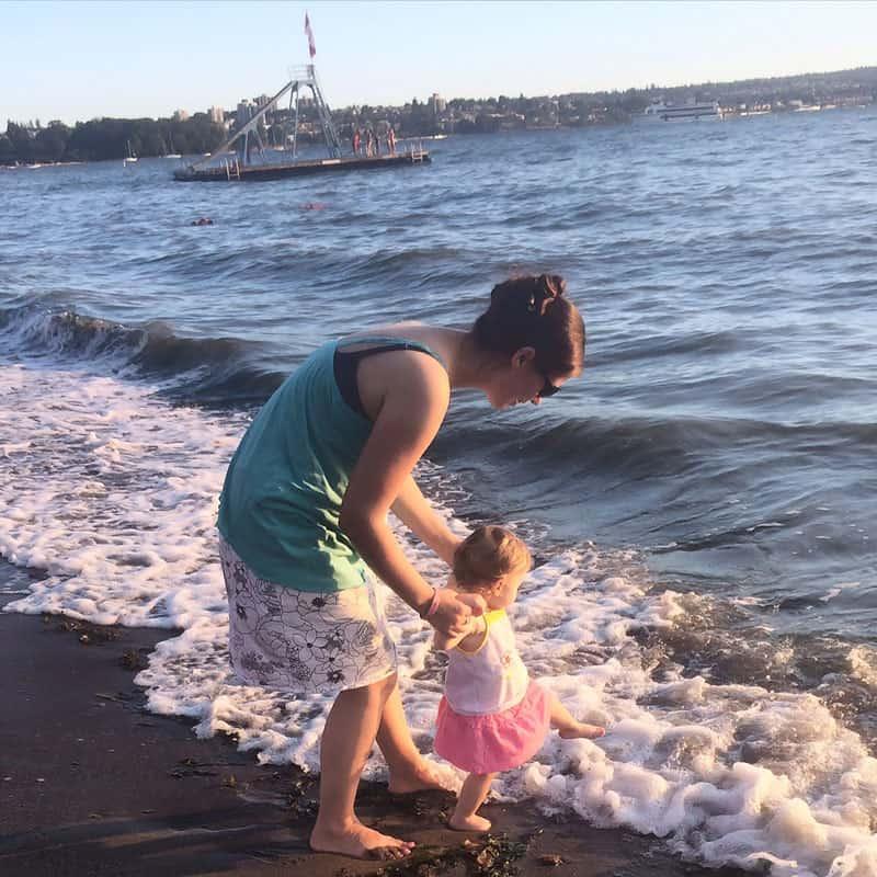 Olivia at Vancouver Beach