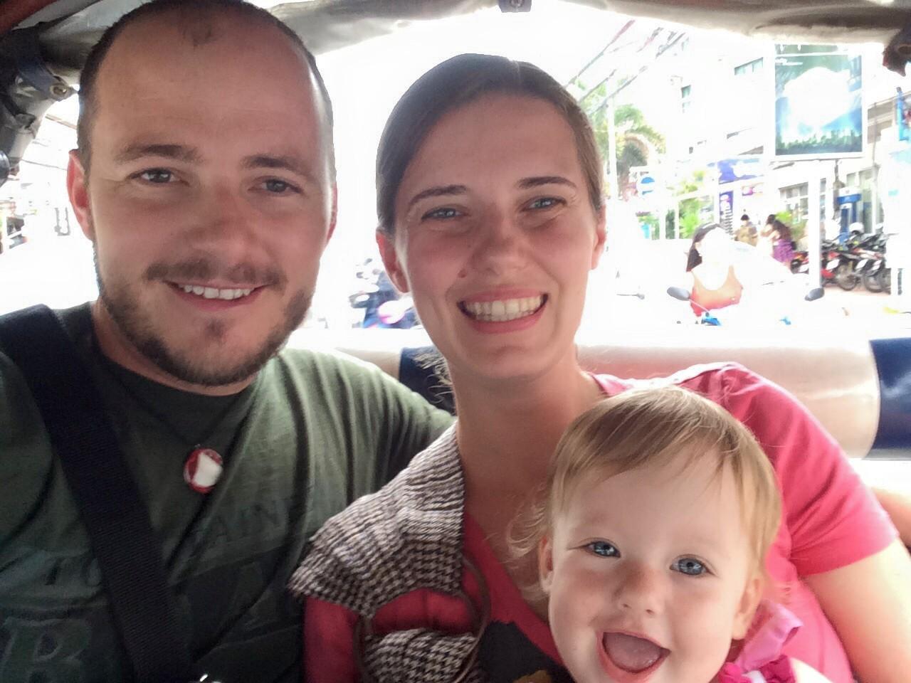 Family on Tuk Tuk Ride