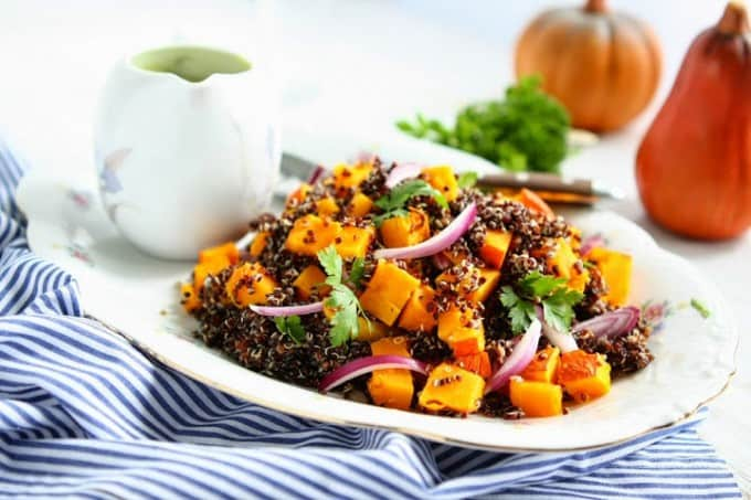 Black Quinoa Pumpkin Salad