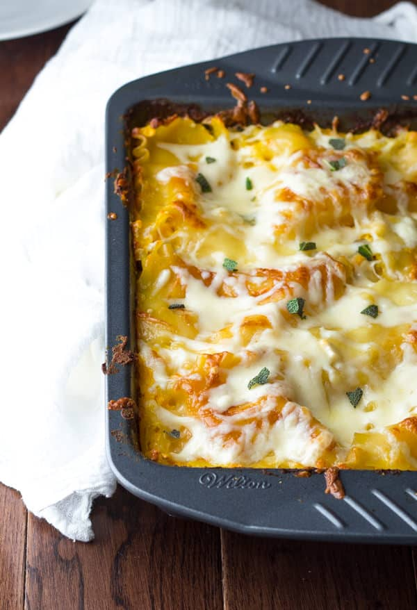 Cheesy Chicken Butternut Sage Lasagna