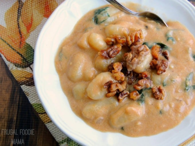 Creamy Pumpkin Gnocchi Soup