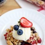 Honey Sweetened Berry Crumble