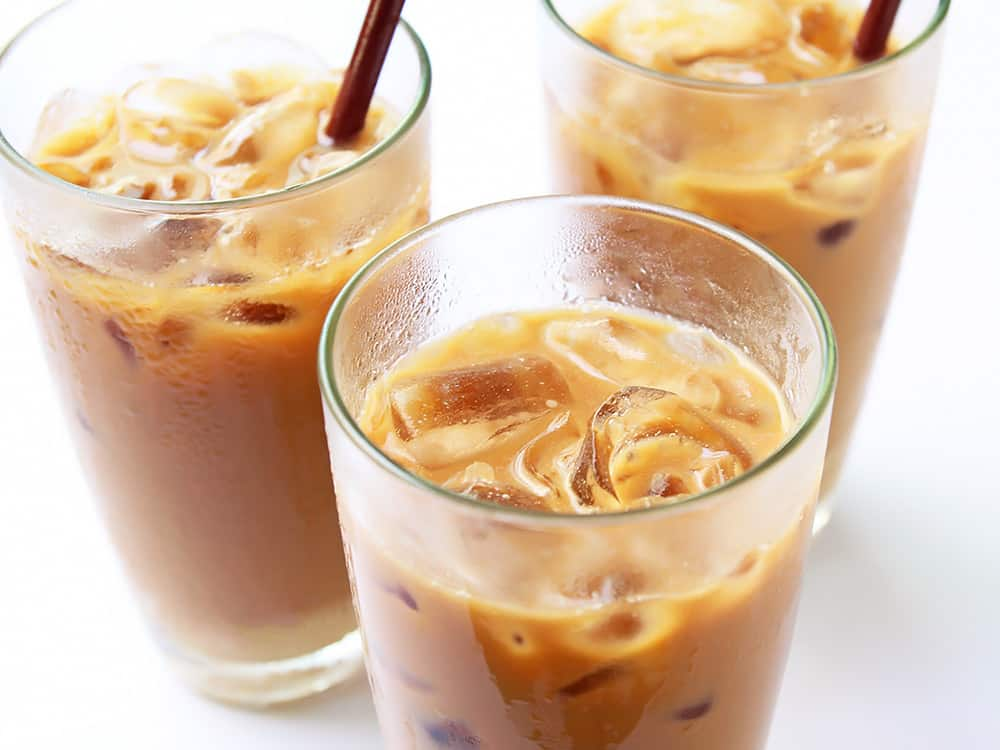 Vietnamese Iced Coffee in Glasses
