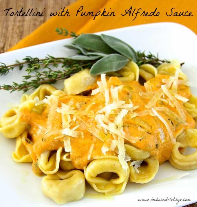 Tortellini with Pumpkin Alfredo Sauce
