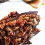 Bacon Dark Chocolate Bark with Salted Coconut Caramel