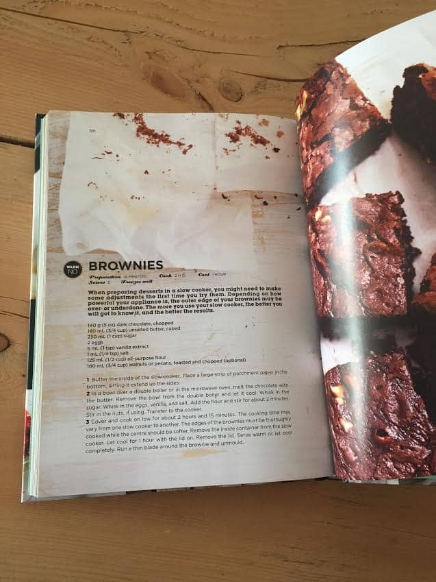 Brownies in Ricardo's Cookbook