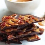 Bacon Dark Chocolate Bark with Salted Coconut Caramel - perfect for sweet & salty snack cravings alike