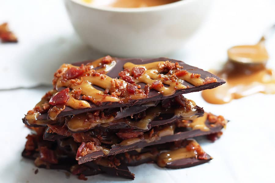 Chocolate Bacon Bark is amazing!