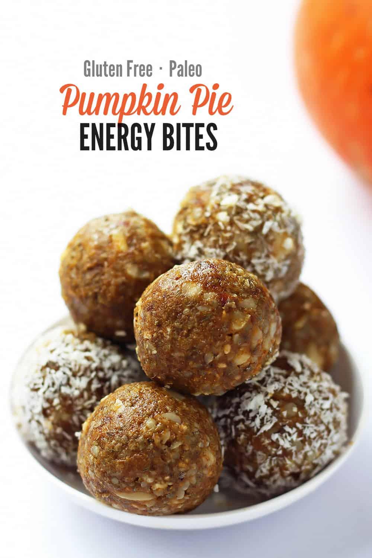 Gluten-free Pumpkin Energy Bites