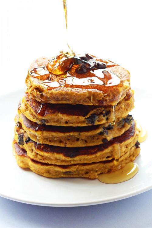 Pumpkin Oatmeal Cookie Pancakes