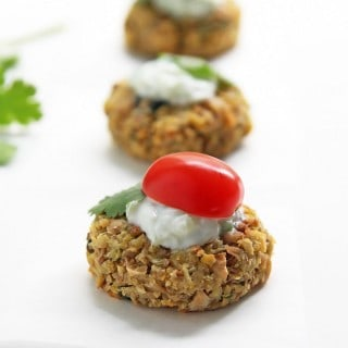Baked Falafel Appetizer with Tzatziki and #AllBran