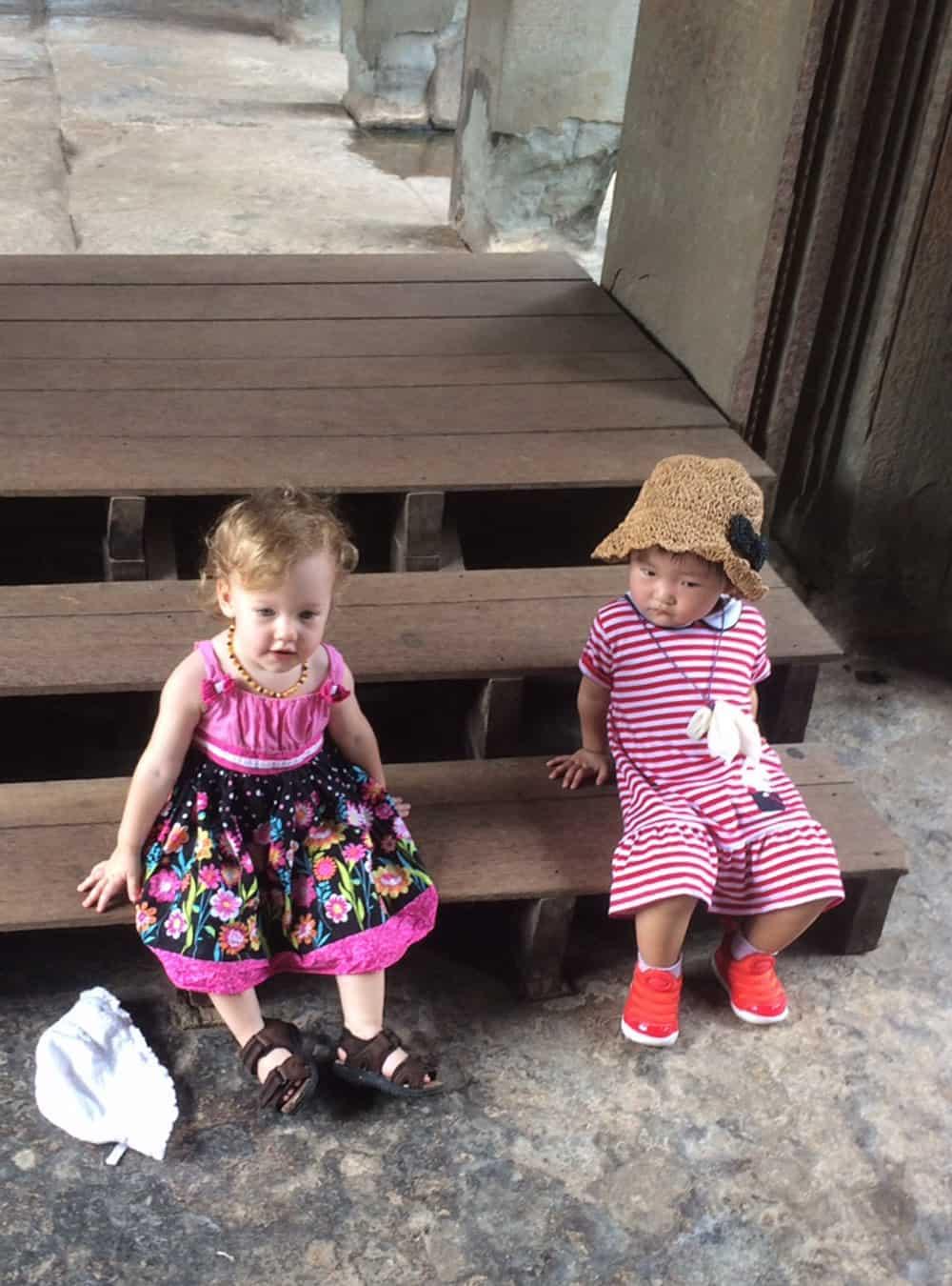 Olivia Sitting in Cambodia