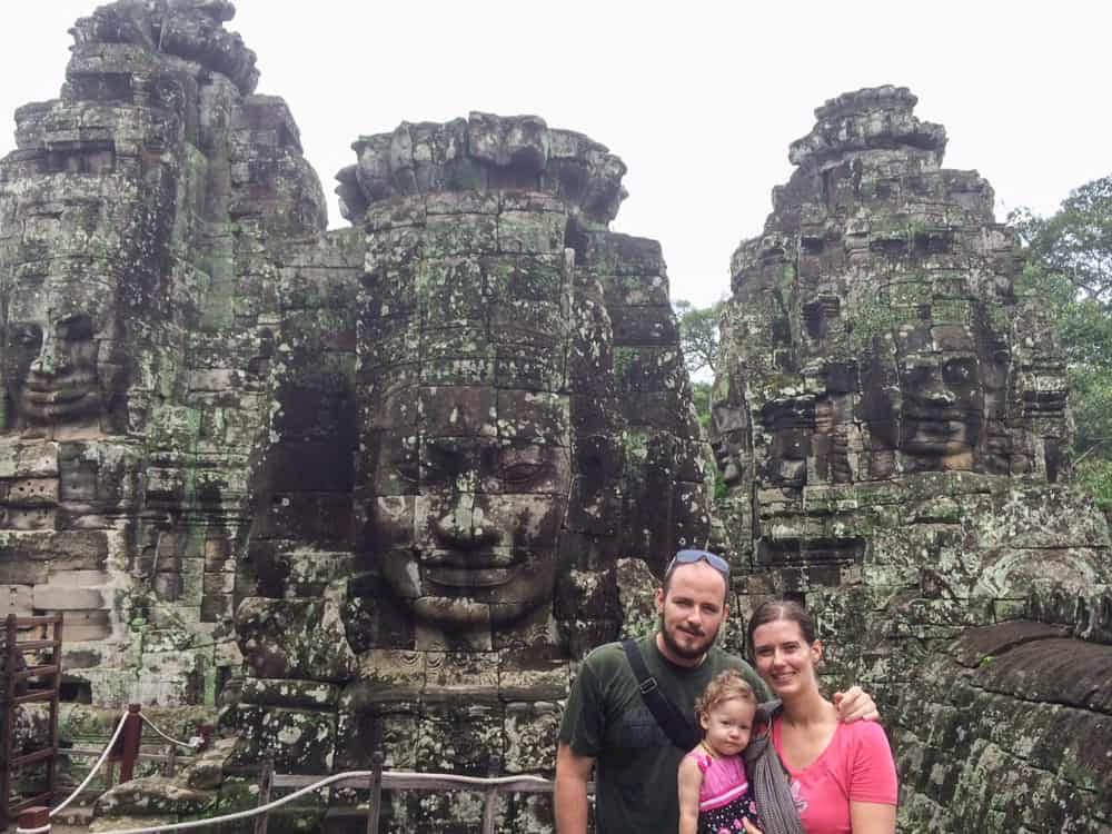Carved Rock Faces in Cambodia
