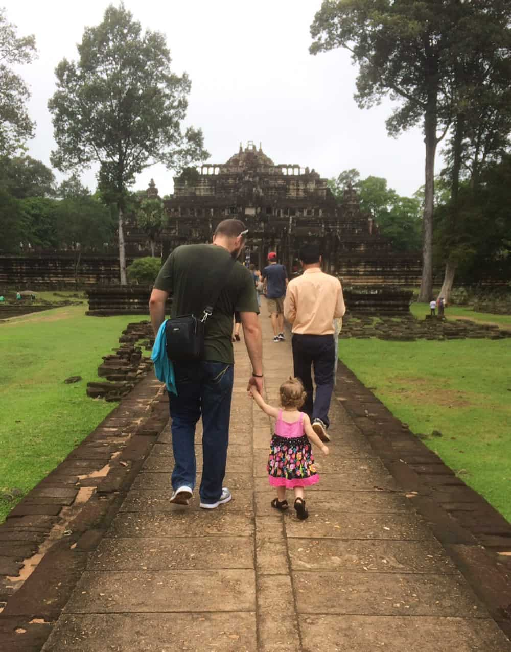 Walking with Olivia in Cambodia
