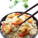 Coconut Rice with Curry Shrimp