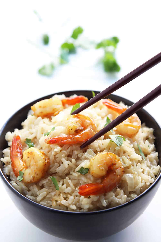 Curry Shrimp Coconut Rice Bowl