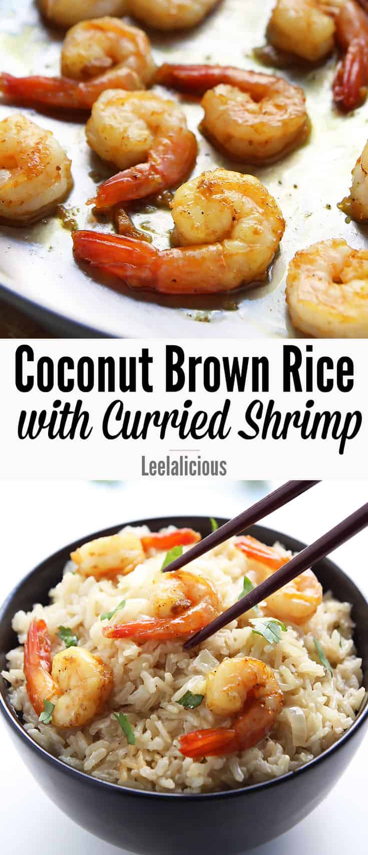 Creamy Coconut Brown Rice with Curried Shrimp is an easy, gluten free meal with tropical flavors. This delicious recipe requires minimal hands-on cooking time thanks to the use of a rice cooker.
