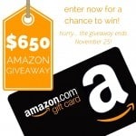 $650 Amazon Gift Card Giveaway