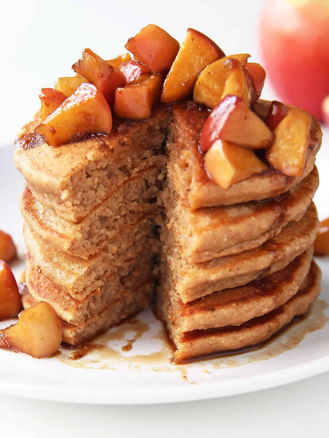 Spiced Apple Pancake Stack